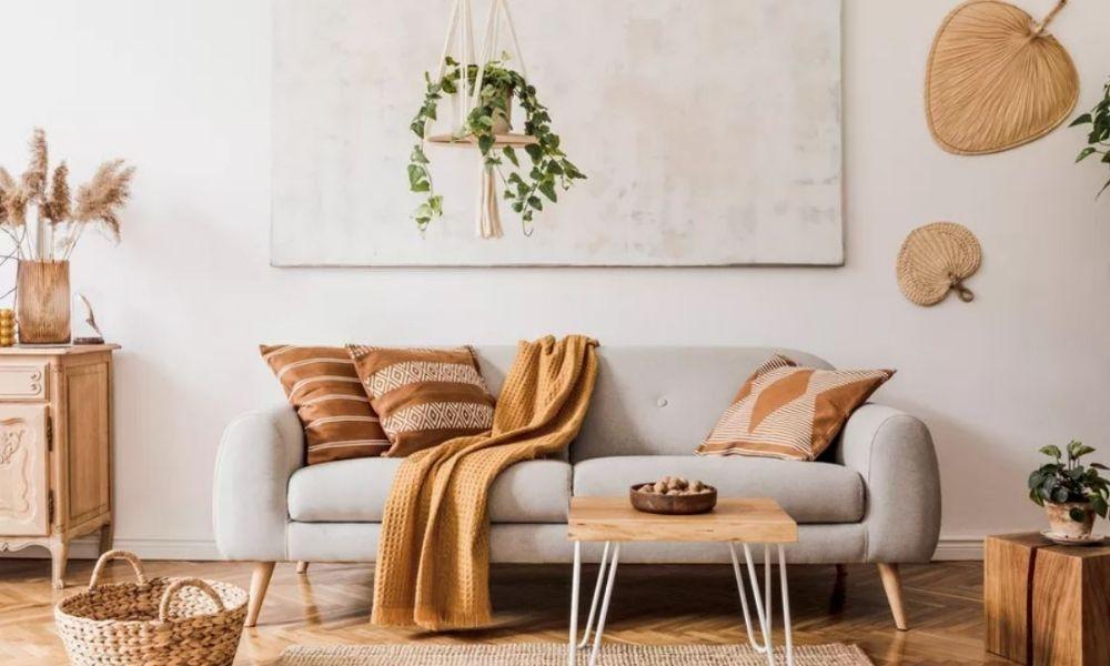 trang trí phòng khách với màu trung tính
