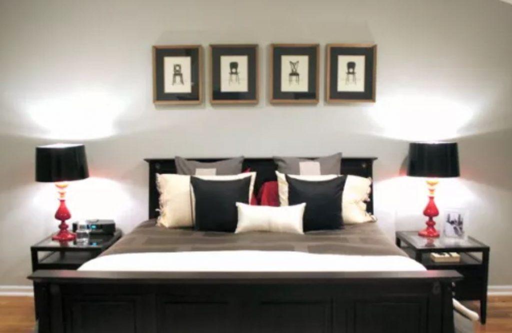 thiết kế màu đỏ cho phòng ngủ