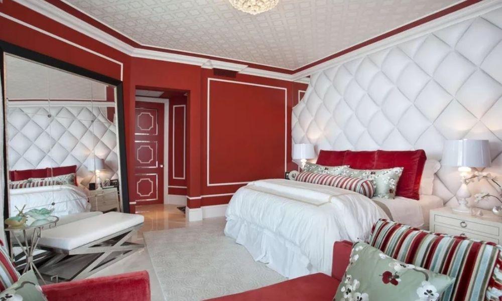 Trang trí phòng ngủ màu đỏ